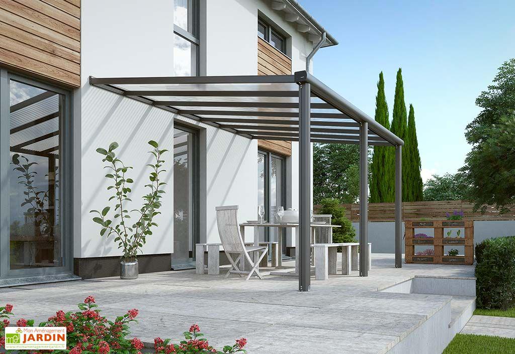 Pergola Murale en Aluminium et Polycarbonate Gardendreams Compact Edition 12 m²