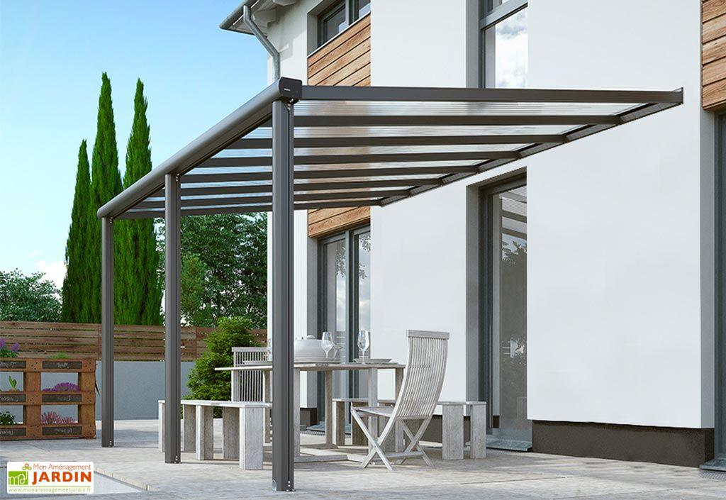 Pergola Murale en Aluminium et Polycarbonate Gardendreams Compact Edition 16 m²