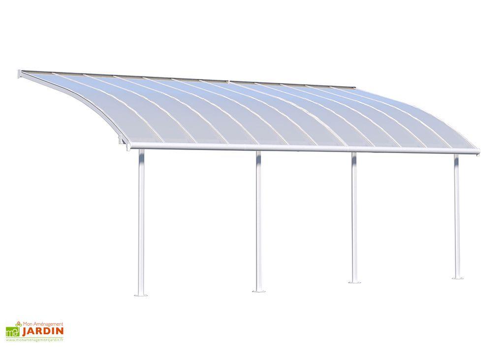 Pergola en Aluminium et Polycarbonate Joya 21,8 m² (3 x 7 m) Blanc