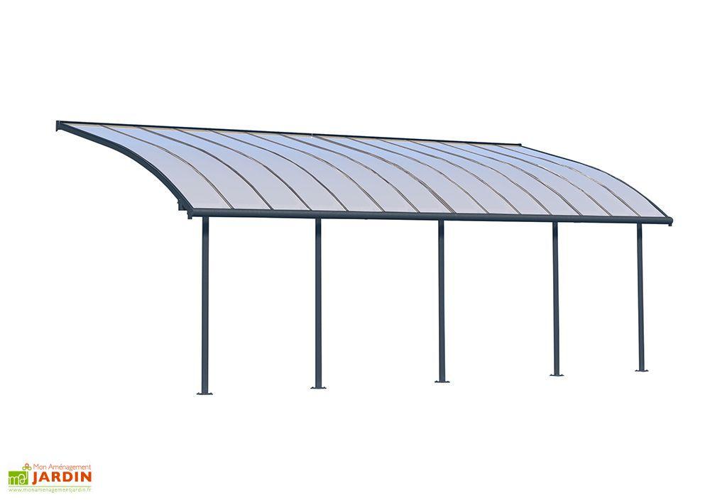 Pergola en Aluminium et Polycarbonate Joya 25,3 m² (2,95 x 8,60 m) Gris