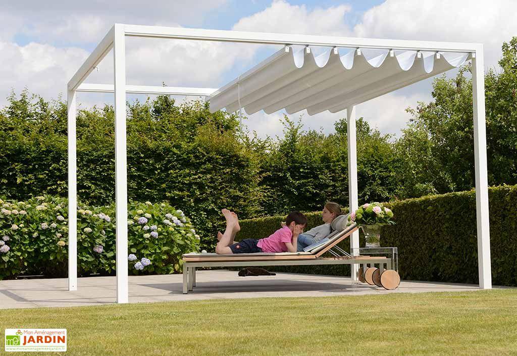 pergola en aluminium prostor cabana 3 x 3 50 m toile pvc etanche prostor. Black Bedroom Furniture Sets. Home Design Ideas