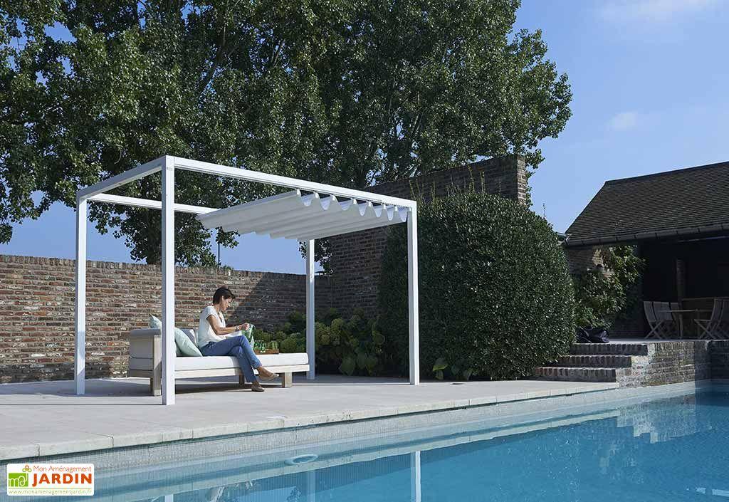 Pergola en Aluminium Prostor Cabana 3 x 3,50 m + Toile PVC Etanche