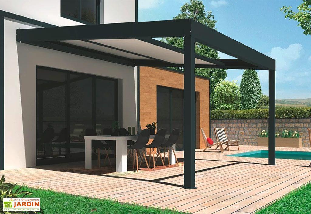 Pergola bioclimatique en aluminium toiture rétractable