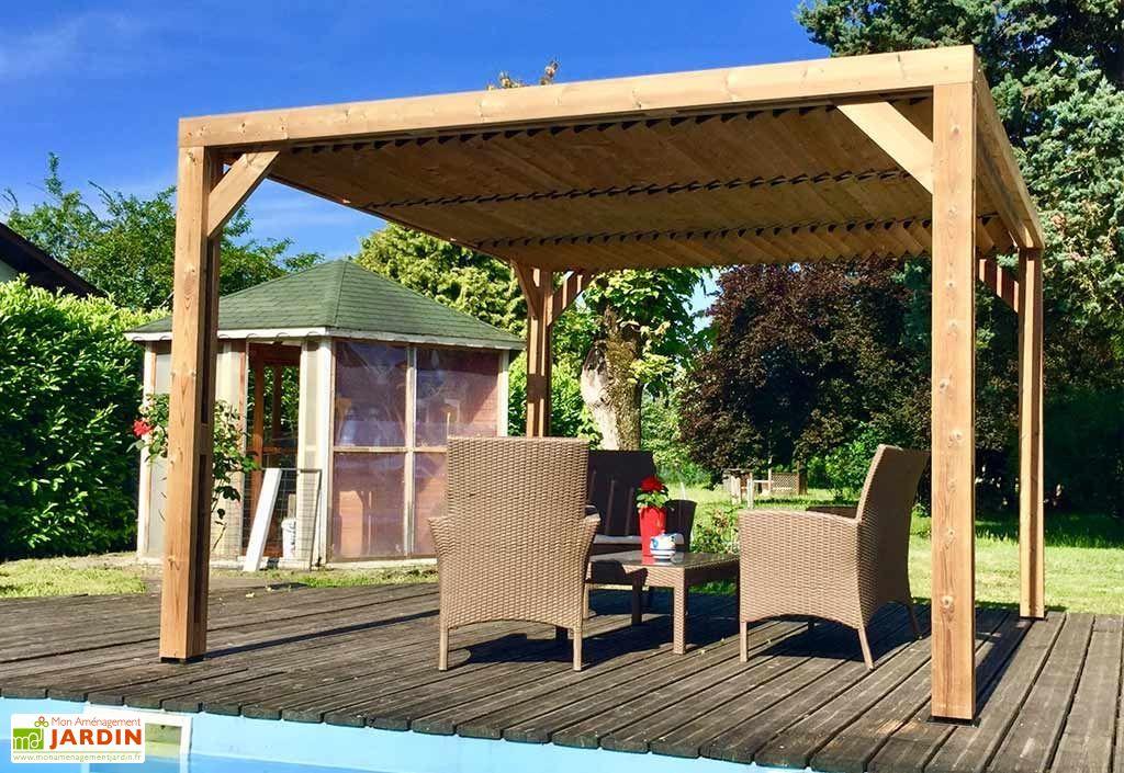 pergola bioclimatique bois trait haute temp rature vantelles toit habrita. Black Bedroom Furniture Sets. Home Design Ideas