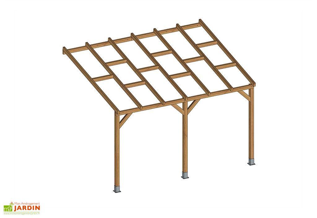 pergola bois traitement autoclave 3m toiture nue