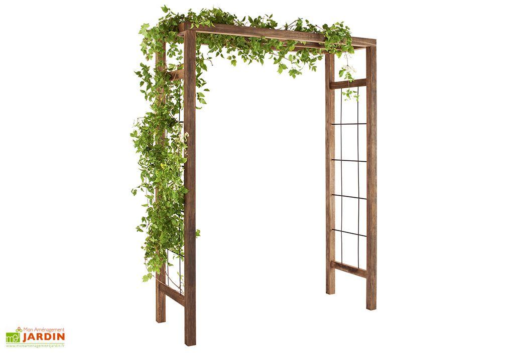 Pergola Bois Ikebana (160x60x214cm) jardipolys plantes grimpantes