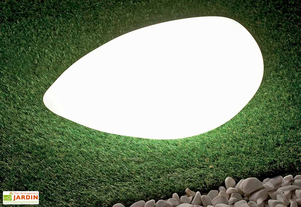 Pierre Lumineuse Blanche 63x21x38cm