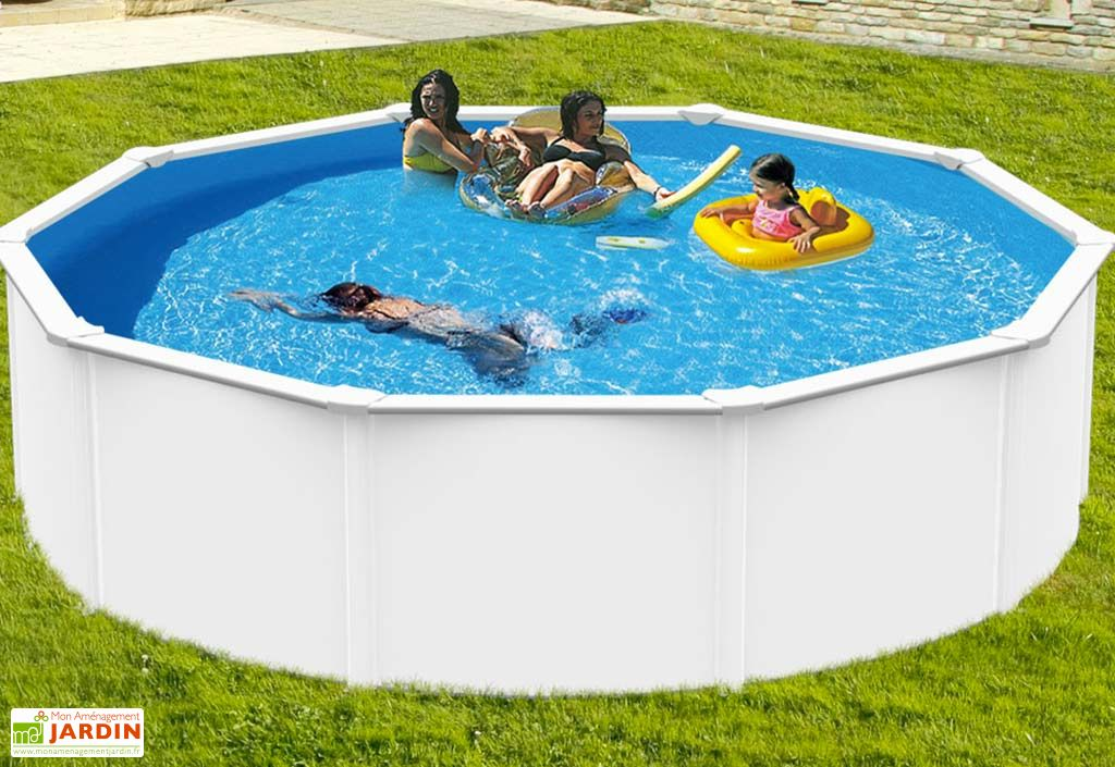 Piscine en m tal hors sol ronde saphir 390cm for Accessoires piscine