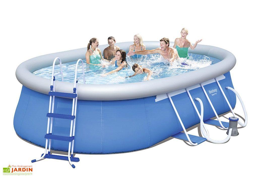 piscine autoportante hors sol ovale steel pro 10m3 488x305x107cm bestway. Black Bedroom Furniture Sets. Home Design Ideas