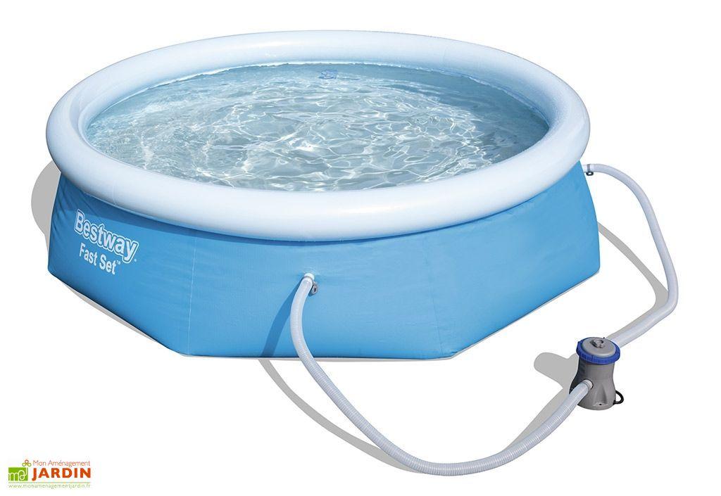 piscine autoportante hors sol ronde 244 filtre bestway. Black Bedroom Furniture Sets. Home Design Ideas