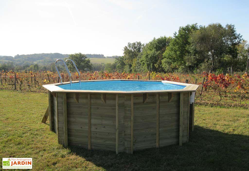 Piscine bois ronde cassis 4 45 12 m3 sunbay for Accessoire piscine 68