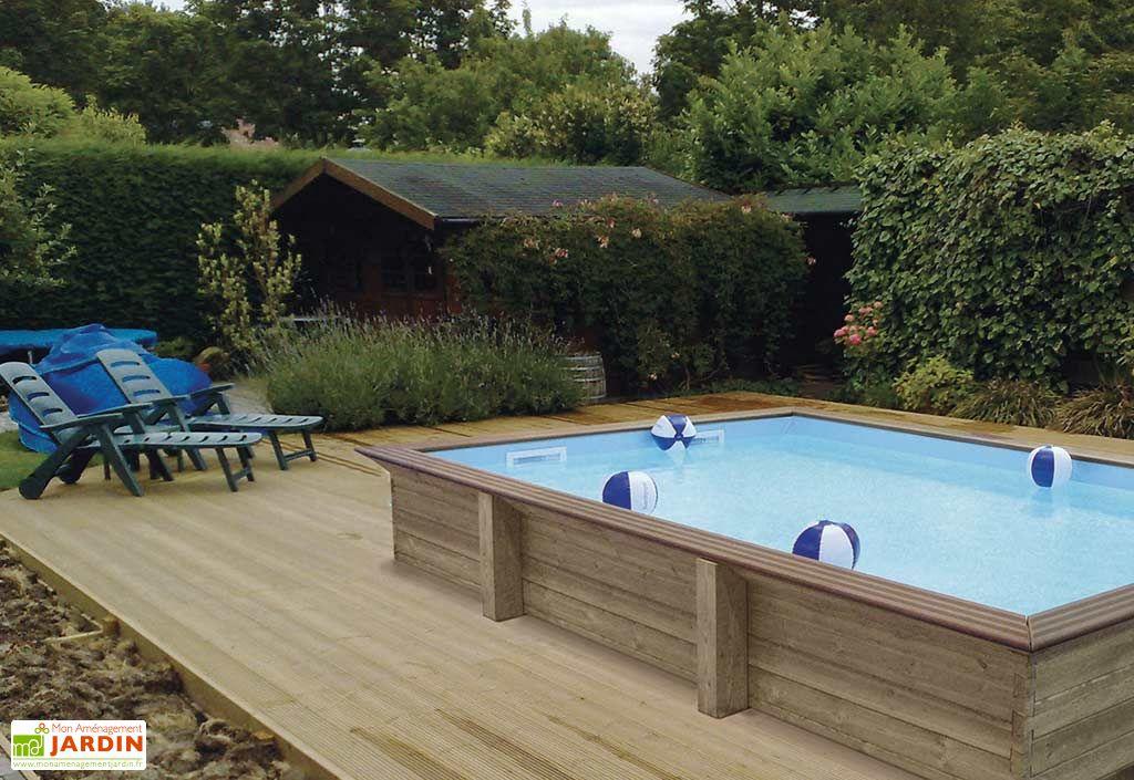 piscine bois hors sol rectangulaire quartoo pls dimensions gardipool. Black Bedroom Furniture Sets. Home Design Ideas