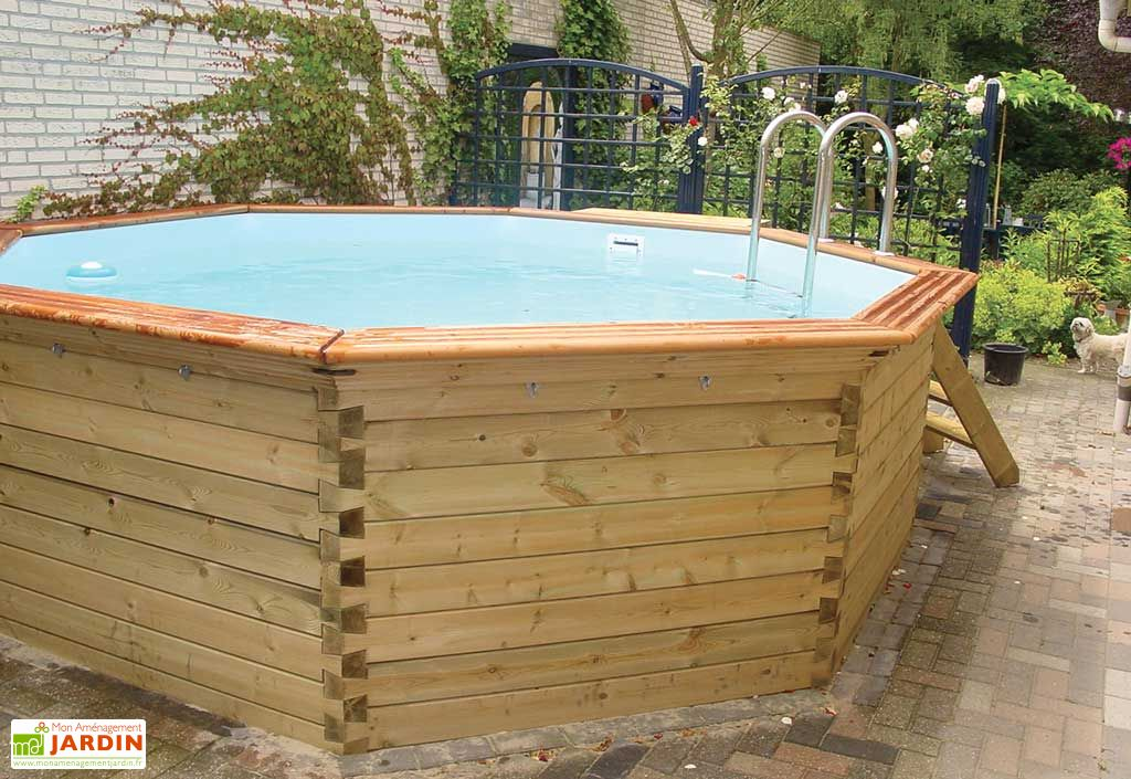Piscine bois hors sol ronde octoo 4 2 420 cm gardipool Accessoire piscine bois