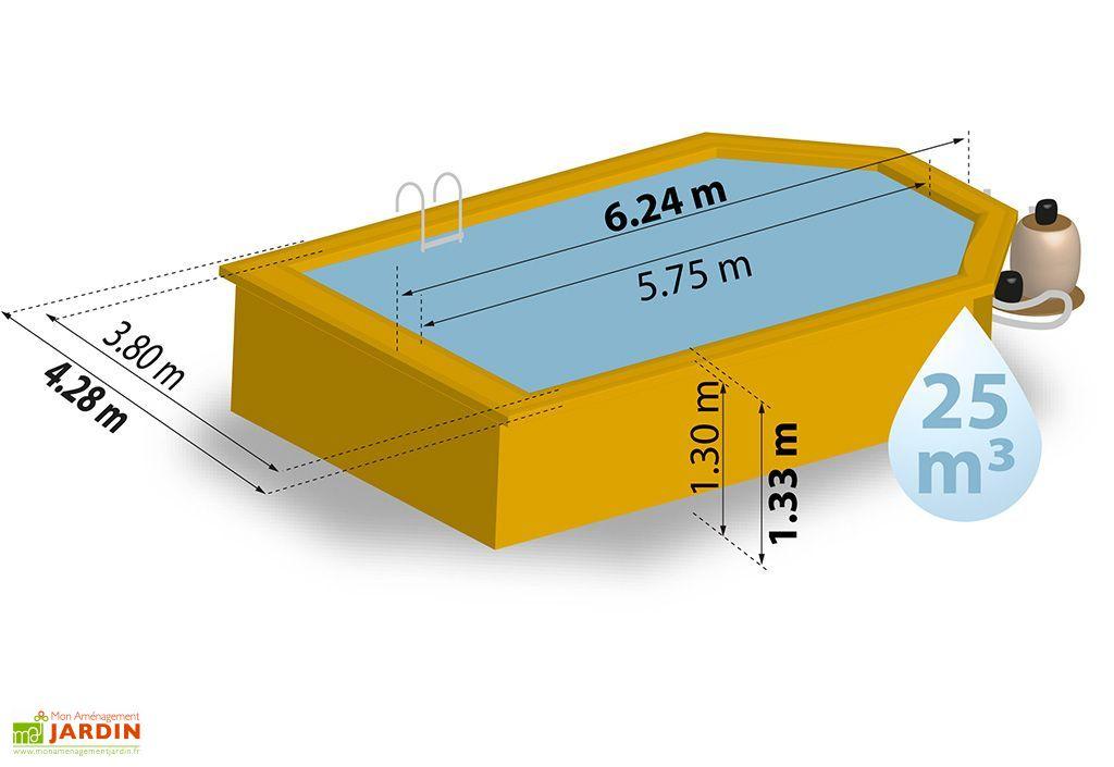 piscine cuba octo recto 25 m3 624x428cm cuba octo recto 6 pans 6 24 x 4 28 x h 1 33 m sunbay. Black Bedroom Furniture Sets. Home Design Ideas