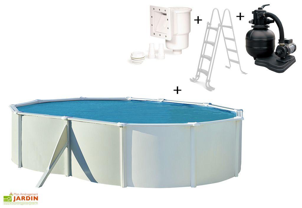 Piscine en m tal hors sol ovale saphir 515x390cm for Accessoires piscine 01