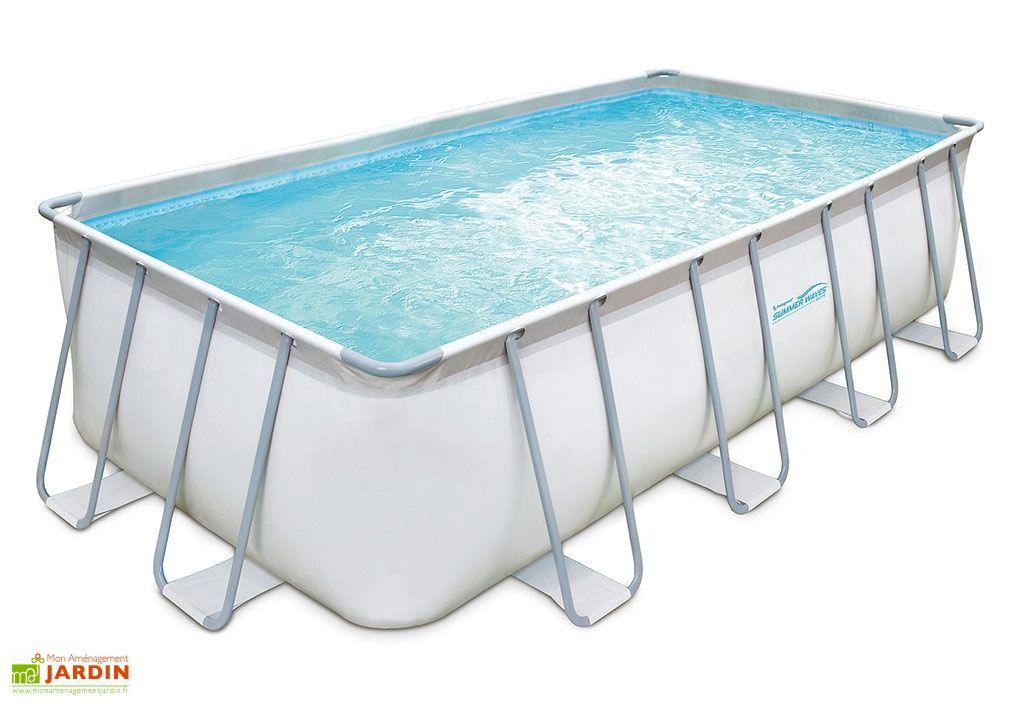 Piscine hors sol piscine en bois m tal mon for Piscine tubulaire rectangulaire 549 x 274 x 122 cm