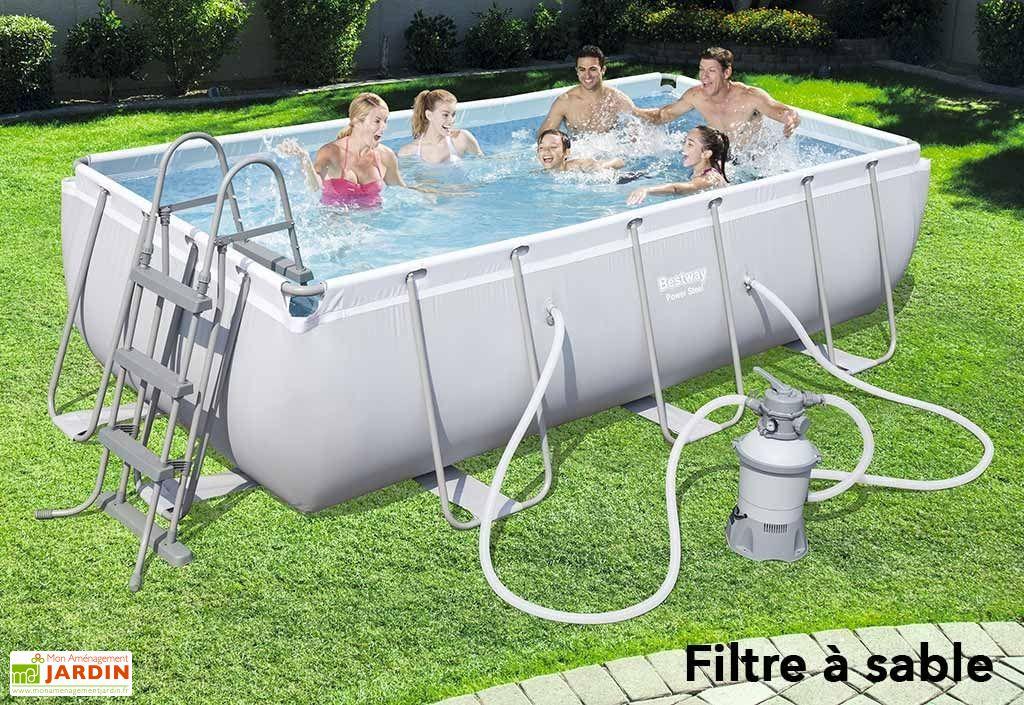 piscine tubulaire hors sol rectangulaire power steel 6. Black Bedroom Furniture Sets. Home Design Ideas