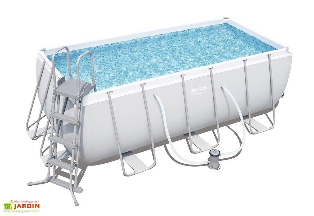 piscine rectangulaire liner 412 x 201 x 122 cm