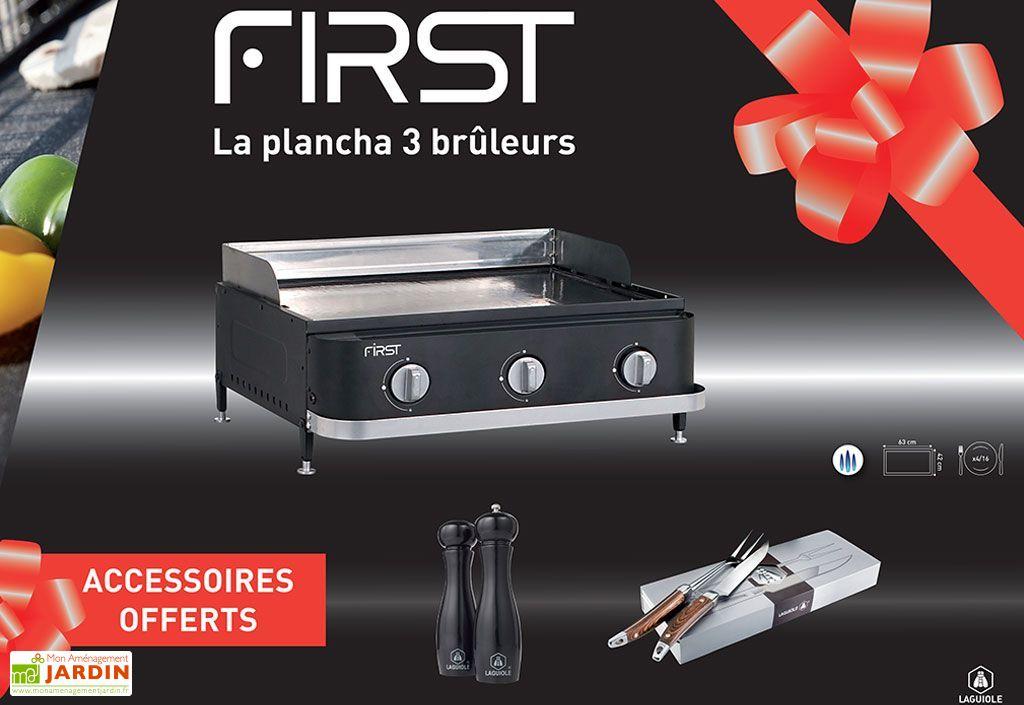 Plancha Gaz First 3 Brûleurs + Accessoires
