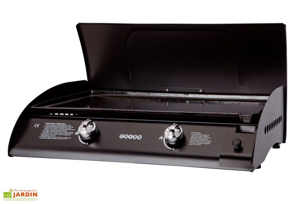Plancha Gaz Santos 6800 W Inox ou Noire