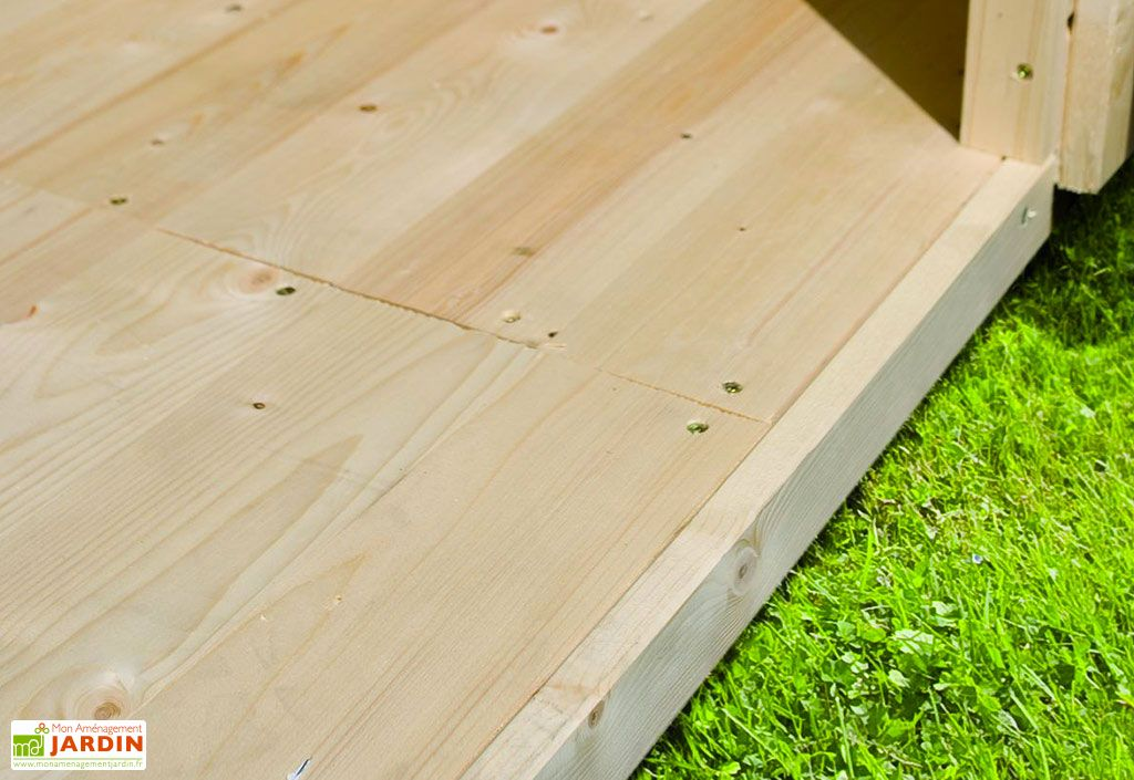 Plancher en Bois pour Abri de Jardin Karibu Merseburg 3