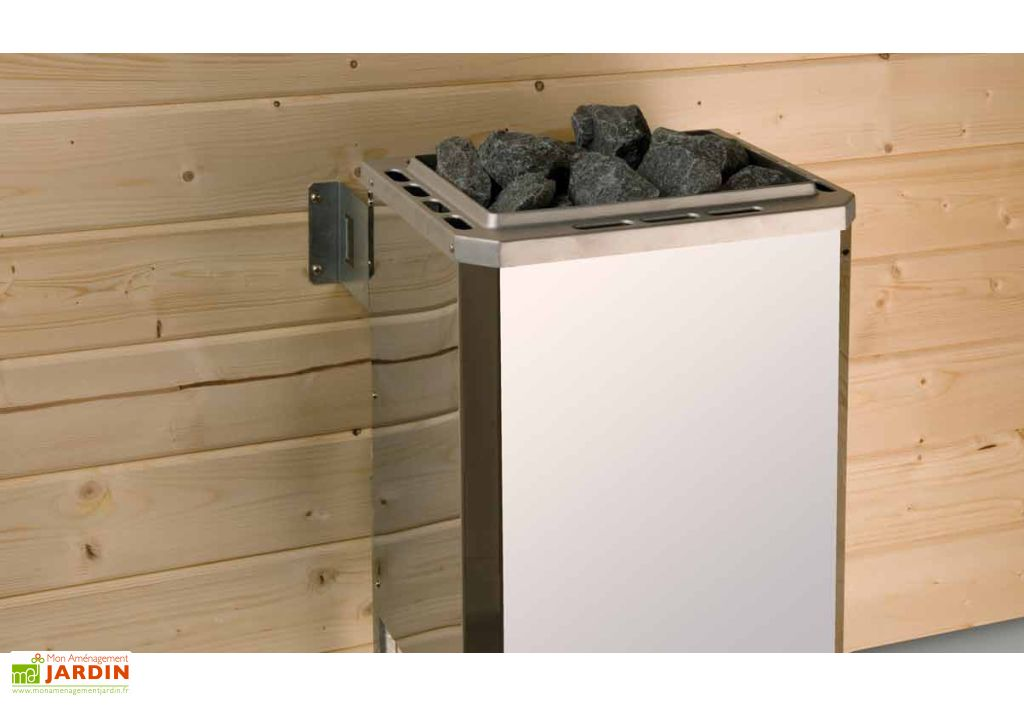 Sauna d'Extérieur Mikkeli (Abri+Sauna+Poêle)