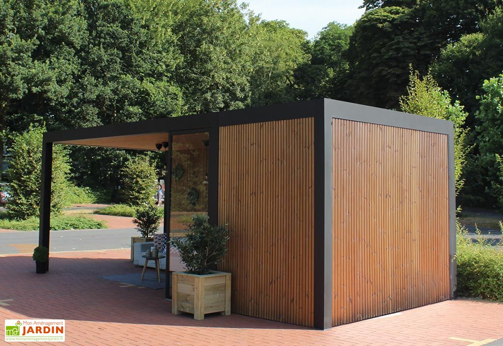 Pool House Abri Jardin En Aluminium Bois Traite Et Verre Maluwi 20 M Gardival