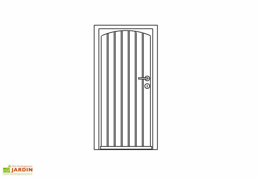Porte Bois pour Abri Exterior 28mm (80x188)