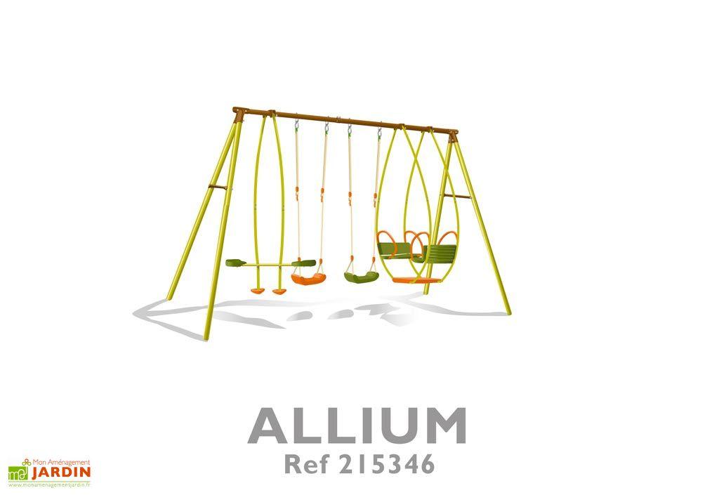 Portique Balancoire Acier Allium 2,45 m