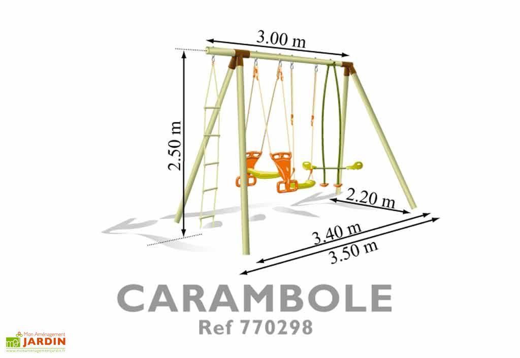 Portique Balancoire Bois Carambole 2,50m