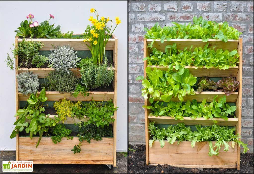 potager vertical en douglas 60 x 80 cm garden city. Black Bedroom Furniture Sets. Home Design Ideas