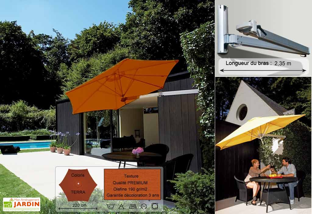 Parasol Paraflex Mural B235 Hexa 220 Premium Terra