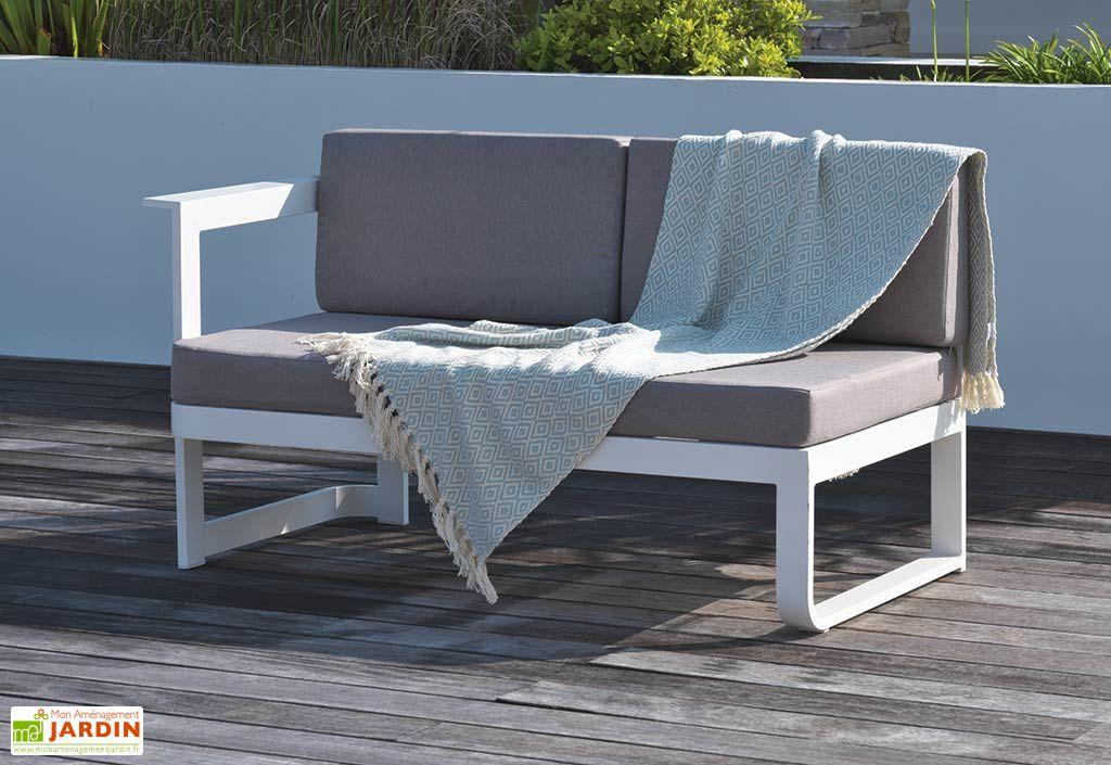 salon de jardin en aluminium barcelona 1 table 2. Black Bedroom Furniture Sets. Home Design Ideas