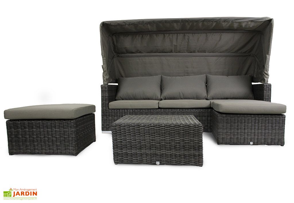 salon de jardin en r sine tress e cal che 1 canap 2 pfs 1 tble salon de jardin en. Black Bedroom Furniture Sets. Home Design Ideas