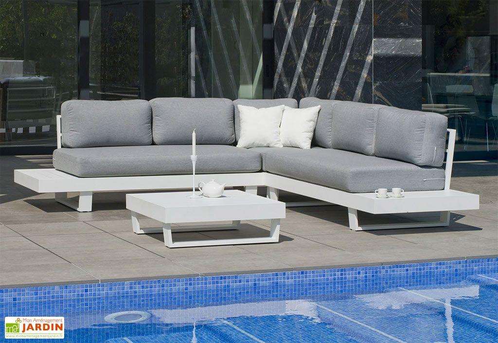 Salon de jardin en aluminium blanc Anastacia