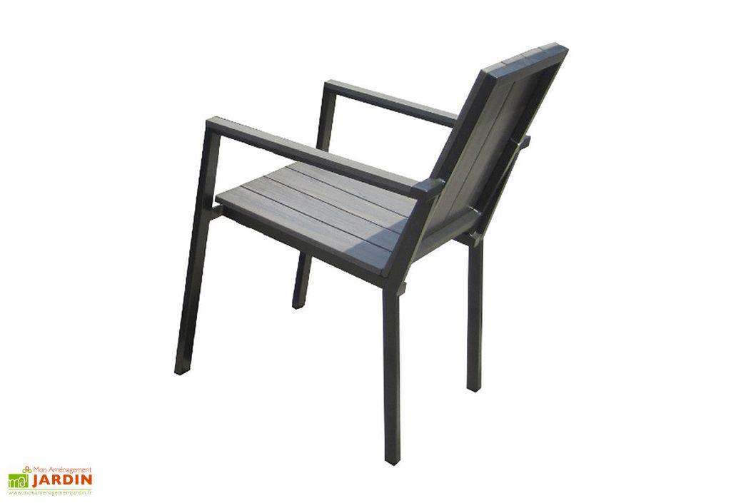 table de jardin aluminium et composite 224 324x100cm 8. Black Bedroom Furniture Sets. Home Design Ideas