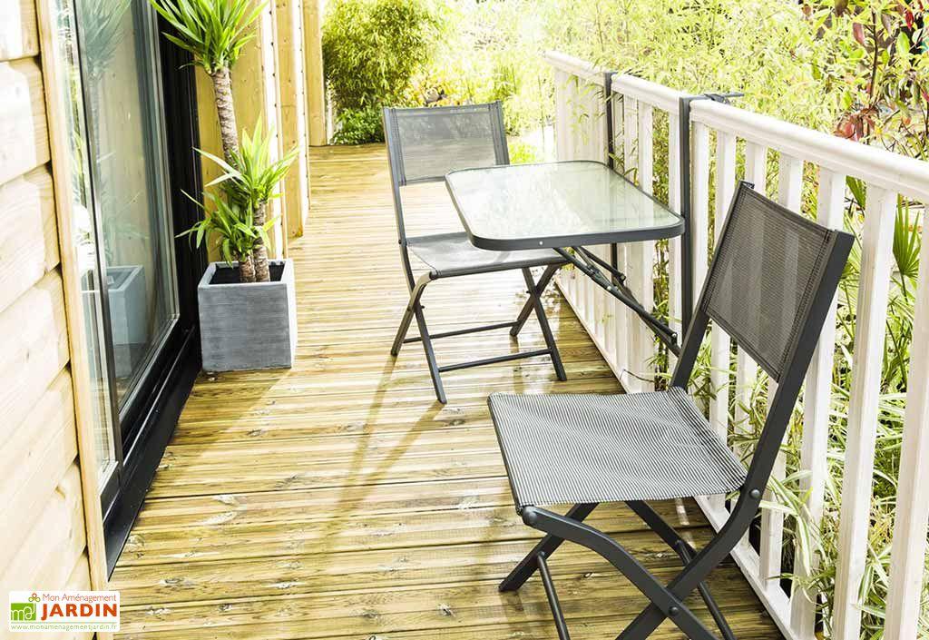 salon de jardin balcon anthracite pliant table 2 chaises wilsa. Black Bedroom Furniture Sets. Home Design Ideas