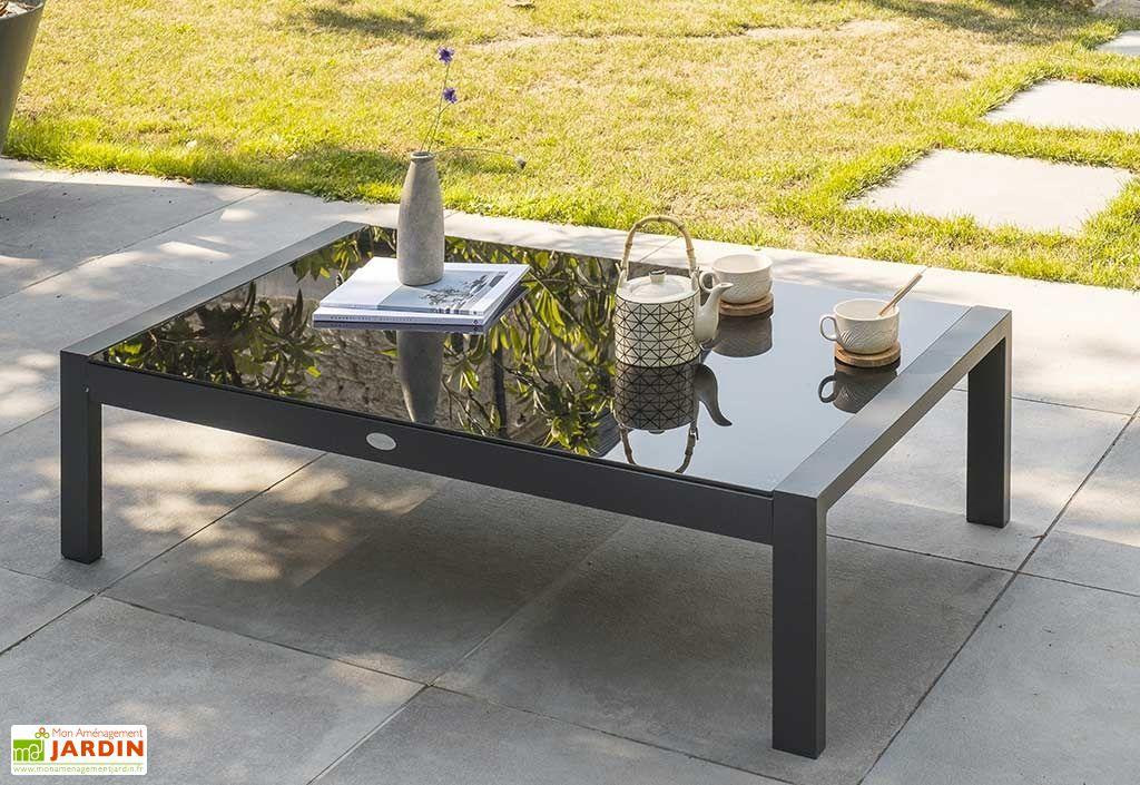 stunning table de jardin en verre noir contemporary. Black Bedroom Furniture Sets. Home Design Ideas