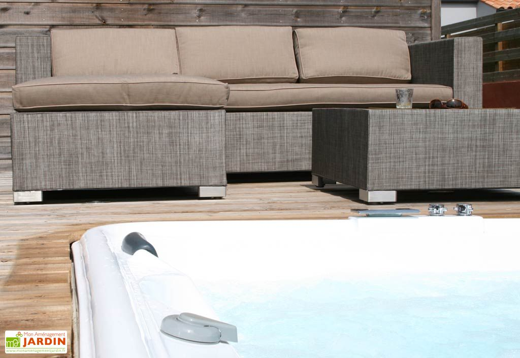 salon de jardin canap textil ne malibu canap 3 l ments textil ne dcb garden. Black Bedroom Furniture Sets. Home Design Ideas