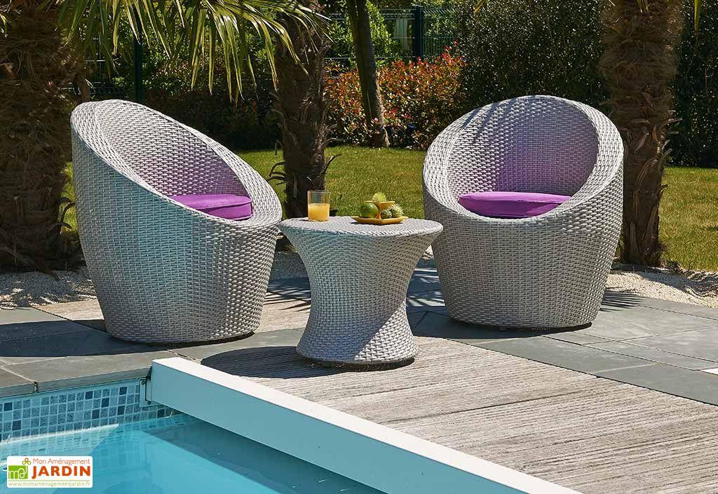 salon de jardin en r sine tress e totem gris 1 table 2 fauteuils salon de jardin en r sine. Black Bedroom Furniture Sets. Home Design Ideas
