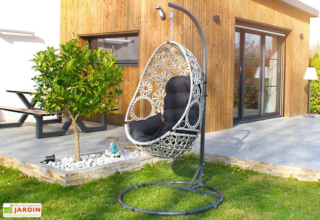 Balancelle de Jardin en Aluminium et Résine Tressée DCB Garden Samoa