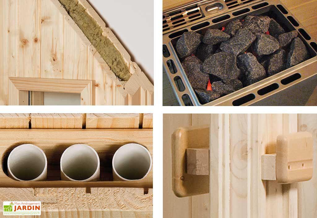 Sauna d'Extérieur Mikkeli Plus (Abri+Sauna+Poêle)