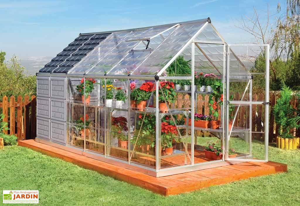 Serre - Abri de Jardin Gaya Polycarbonate 185x366x209