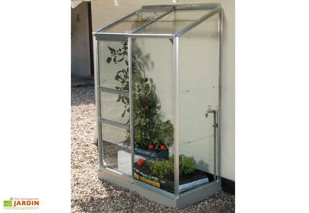 serre de jardin en aluminium et verre 3 mm petite serre adossée