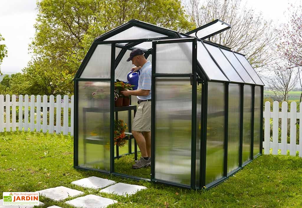 serre de jardin polycarbonate rion eco 204x263x198 rion. Black Bedroom Furniture Sets. Home Design Ideas