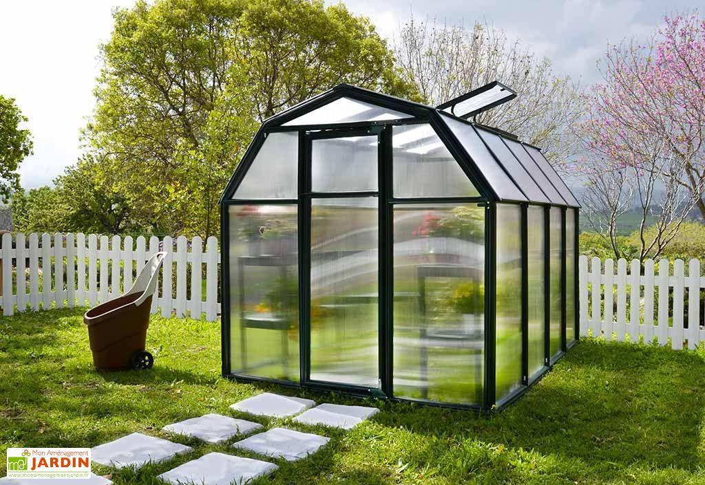 serre de jardin en polycarbonate 6 mm avec lucarne et porte simple