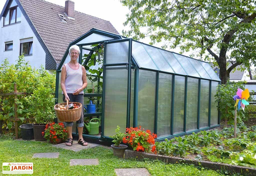 serre de jardin en polycarbonate vert double vitrage 7,89 m²