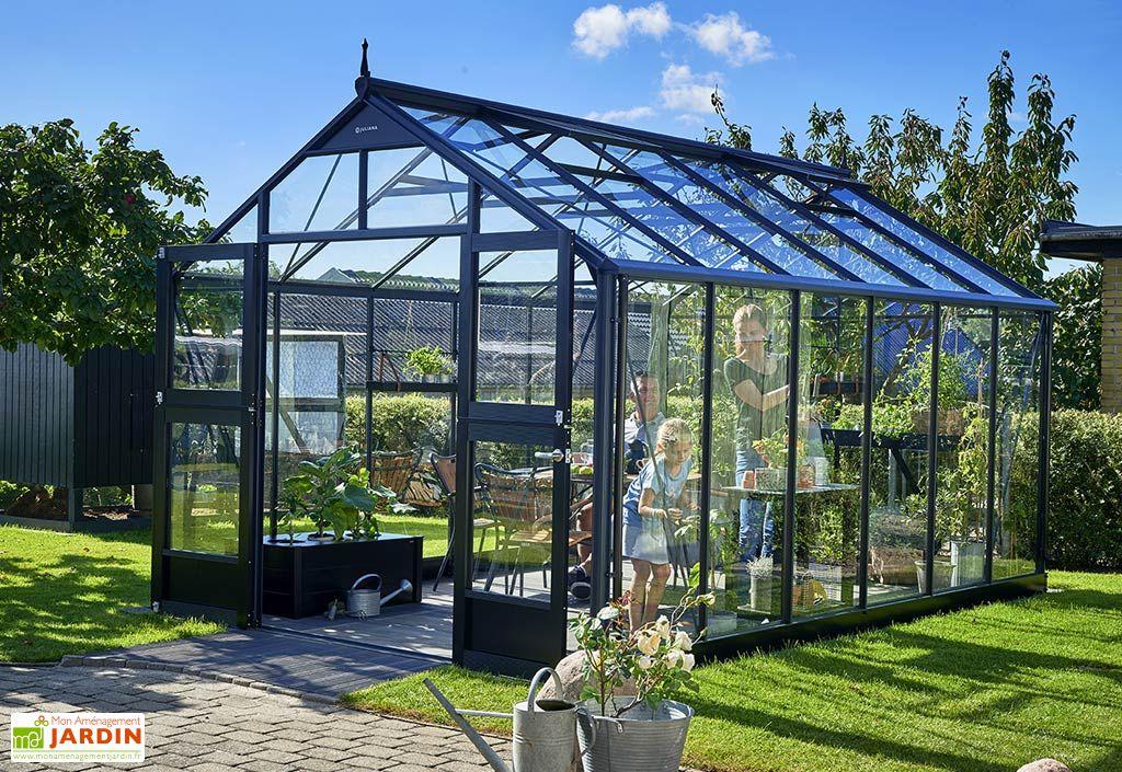 Serre de jardin en aluminium Juliana Premium 13 m² + verre trempé 3 mm