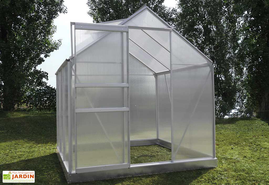 Serre de jardin en aluminium et polycarbonate alv olaire diamant 46 chal t - Serre aluminium polycarbonate ...