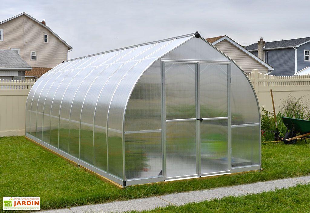 Serre de Jardin en Aluminium et Polycarbonate Bella 14,6 m²